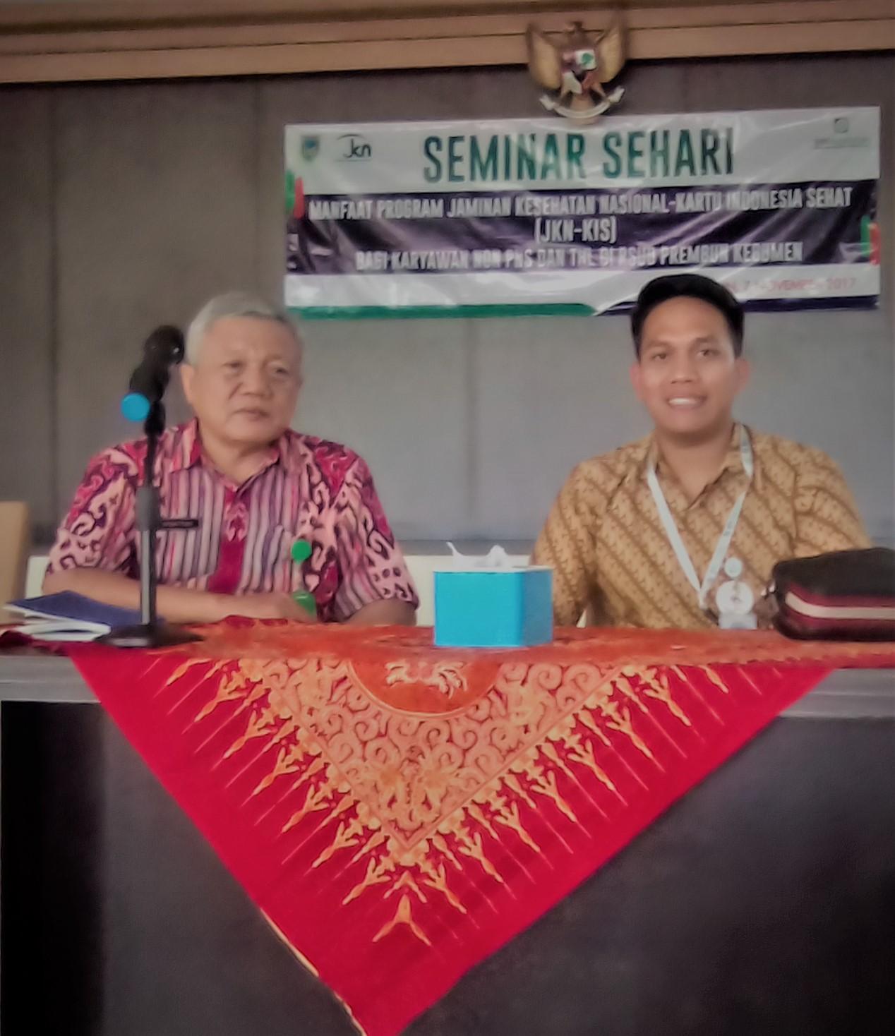 Sosialisasi Kepesertaan Jaminan Kesehatan Nasional-Kartu Indonesia Sehat (JKN-KIS) Pada RSUD Prembun Kabupaten Kebumen